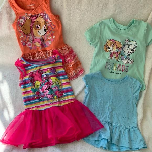 Toddler Girls Paw Patrol Outfit Blue Skye Shirt /& Heart Leggings 2T NWT